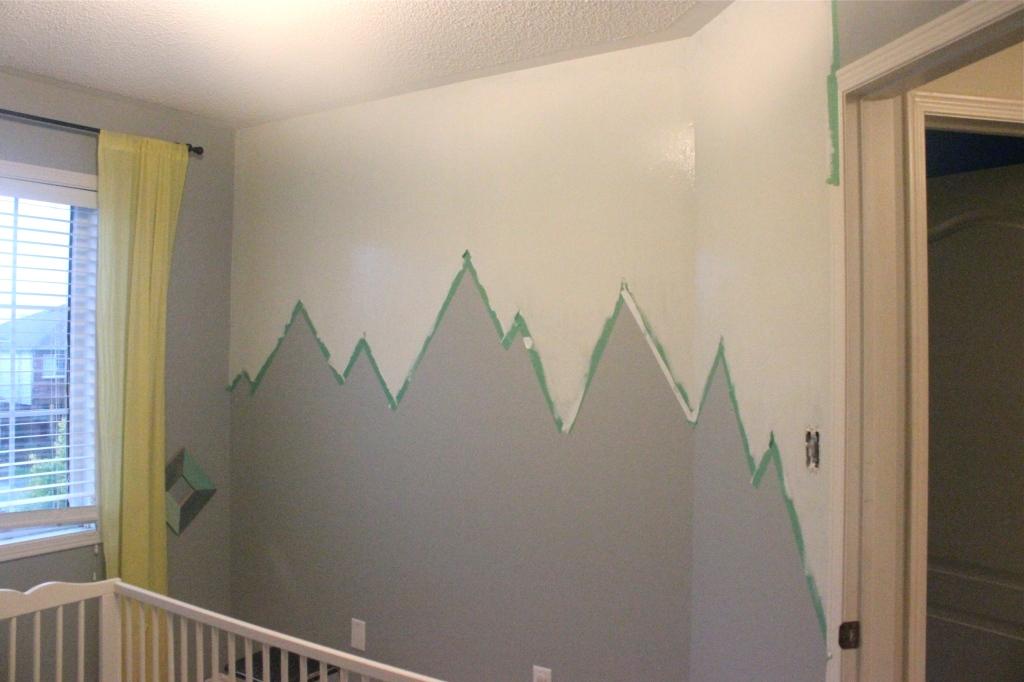 Mountain Mural Nursery Progress