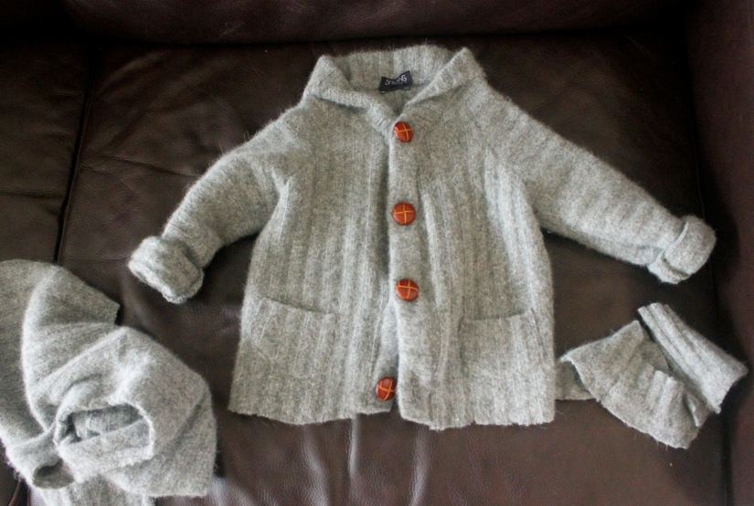 Toddler Sweater Made from an Adult Sweater  //Shibang Designs